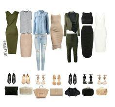 #swatches #clothes #fashion #street #style #clutch #heels #pumps #handbag #dress #slip #white #navygreen #denimondenim #tan