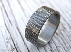 rustic mens ring mens wedding band rustic wedding by CrazyAssJD