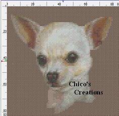 Cross Stitch Embroidery, Cross Stitch Patterns, Cross Stitching, Crochet C2c Pattern, Chihuahua Dogs, Chihuahuas, Crochet Letters, Owl Patterns, Back Stitch
