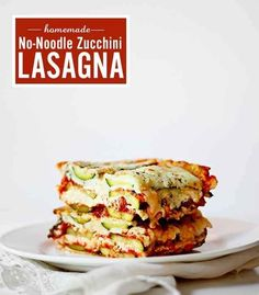 You can thinly slice zucchini or eggplant to make pasta-free lasagna.