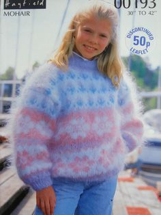 Girls fuzzy mohair sweater