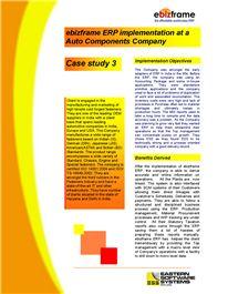 Case study Auto Components 3 - ebizframe ERP ebizframe Manufacturing ERP Software