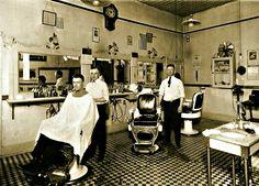 1930's - two barbers - Barbershop