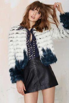 Glamorous Good Vibes Faux Fur Jacket