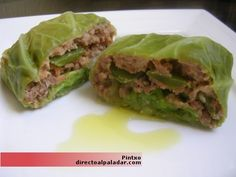 Receta de rollos de repollo Healthy Salad Recipes, Healthy Meals, Healthy Food, What You Eat, Salad Plates, Sandwiches, Tacos, Cooking Recipes, Mexican