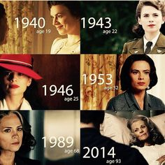 Peggy Cater through the ages. I cried in 2014 and 2016.