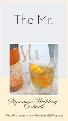 The Mr: This signature wedding cocktail features Rye Whiskey, lemon and agave. Shop Heritage Distilling for spirits you will love! #heritagedistilling #whiskeycocktail