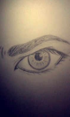 My drawing of an angry eye :) ~Renee Moreno