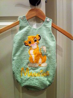 Disney inspired Simba from Lion King Bubble Romper in sizes 0-3 months - 24 months by LayneyBugsSpot on Etsy https://www.etsy.com/listing/153583289/disney-inspired-simba-from-lion-king