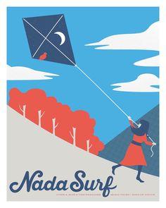 Nada Surf / / Paradies Boston. 16 x 20 Siebdruck. von daykamp