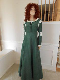 New Renaissance Brave Princess Merida Dress Gown Costume