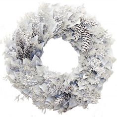 Winter Wonderland Wreath, wreath, home, decor, decorations, holiday, Christmas, winter, white.