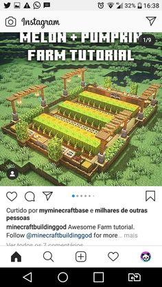 Minecraft House Plans, Minecraft Farm, Minecraft Cottage, Easy Minecraft Houses, Minecraft House Designs, Minecraft Decorations, Amazing Minecraft, Minecraft Construction, Minecraft Blueprints