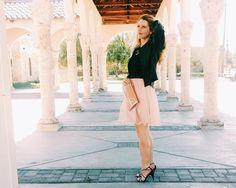 Nude // Black - Three Heel Clicks #lace #tulle #LC #Lauren #Conrad #kohls #valentine #sandals #black #nude #outfit #style