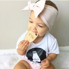 Milk it! No shortage on cuteness here! 🍼  #glitterandspice #milk #teether…