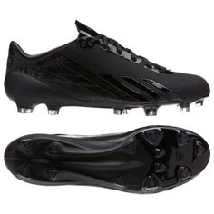 6e7094fff7f Adidas Adizero 5 Star 2 0 Black Titanium Adidas Adizero Football Cleats