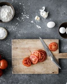 Use your Global bread knife to cut tomatoes. It works quickly through the skin and secures great slices 🍅🍅  To order any of our Global Knives range, ⠀ ⠀⠀⠀ Call: 021-4344834⠀⠀⠀ or⠀⠀⠀ Email: sales@brennanscaterworld.ie⠀  Open to Trade & Public. Global Knives, Kitchen Ware, Butcher Block Cutting Board, Tomatoes, Public, Range, Bread, Diy Kitchen Appliances, Cookers