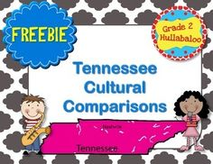 This freebie is for my fellow Tennessee teachers in second grade. I have created five organizers for note taking related to comparison of cultures across the United States. I hope you find it useful with your informational texts or video clips!