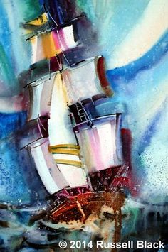 This site offers a gallery of watercolor paintings by Russell Black.