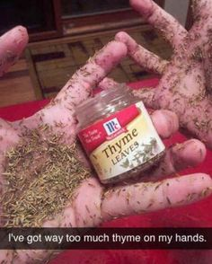 Thyme on my hands.... #punny