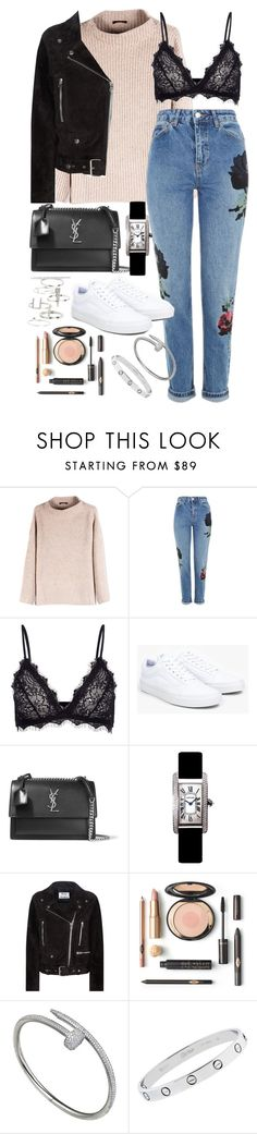 """Untitled #1476"" by leylasstyle ❤ liked on Polyvore featuring The Row, Topshop, Anine Bing, Vans, Yves Saint Laurent, Cartier and Acne Studios"