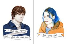 Eternal Sunshine of the Spotless Mind watercolor by ohgoshCindy
