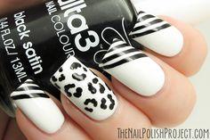 Black & White Nails - nail design