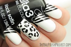 Black & White Nails - nail design