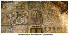 Monastery in Slivnica - Saint Mary - Macedonia Postcards