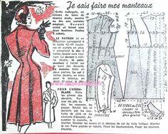 GRATUIT! 64 Patrons Couture Vintage 1947! FREE Sewing patterns