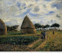 Peasants and Hay Stacks 1878 (Camille Pissarro)