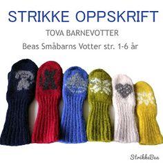StrikkeBea: Litt mer info om småbarnsvottene. Leg Warmers, Mittens, Ravelry, Om, Knitting, Pattern, Threading, Leg Warmers Outfit, Fingerless Mitts