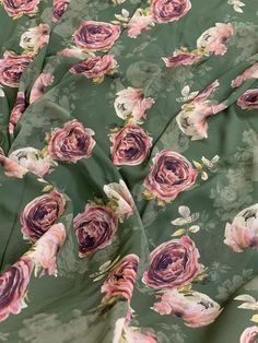 Kinds Of Fabric, Georgette Fabric, Fabric Shop, Buy Prints, Fabric Online, Green Colors, Printing On Fabric, Digital Prints, Floral Prints