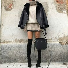 Sweater and jacket
