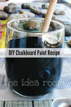 Learn how to make Chalkboard Paint in ANY color or sheen with this simple Chalkboard Paint Recipe. Costs much less than regular Chalkboard Paint.