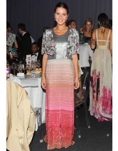 Margherita Missoni, designer. Best known for knit wer and bold bright spaceated patterns.