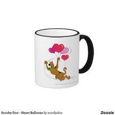 Scooby Doo - Heart Balloons Ringer Coffee Mug