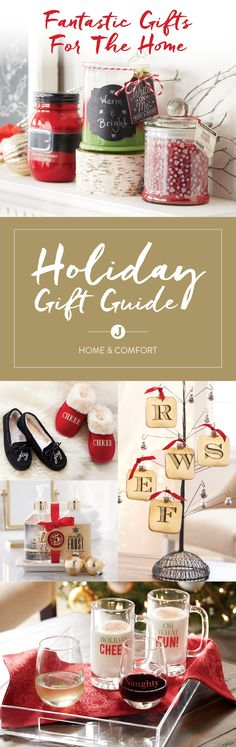 There's nothing better than a warm and welcoming home during the holidays. From fragrant soaps, lotions and candles to soft slippers and seasonal snowglobes, our Home & Comfort Holiday Gift Guide can help you bring warmth and love to the homes of others. View the guide today!