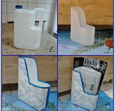 Hemal has created a unique magazine holder by using plastic bottle! Saw this on facebook from the page lets create crafts