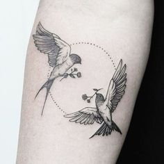 Beautiful Bird Tattoo Designs For Men And Women Gallery - . - Beautiful Bird Tattoo Designs For Men And Women Gallery – - Two Birds Tattoo, Swallow Bird Tattoos, Bird Tattoo Men, Bird And Flower Tattoo, Swallow Tattoo Meaning, Swallow Tattoo Design, Tattoos Of Birds, Tattoos Of Flowers, Dove Tattoo Design