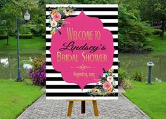 Kate Spade Inspired Welcome Poster | Everything You Need for a Kate Spade Inspired Bridal Shower on Early Ivy earlyivy.com
