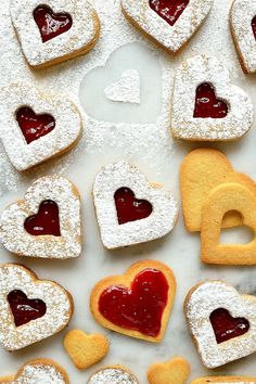 Valentine's Day Linzer Biscuits
