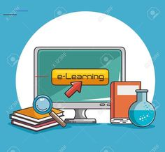 online education and e-learning concept vector illustration graphic design Illustration , affiliate, learning, concept, E Learning, H Brothers, Online Language Courses, Educational Websites For Kids, Math Anchor Charts, Social Projects, Education Logo, Math Fractions, Special Education Teacher