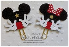 Planner Accessory Planner Clip Set of 2  Mickey by tracesofcrafts
