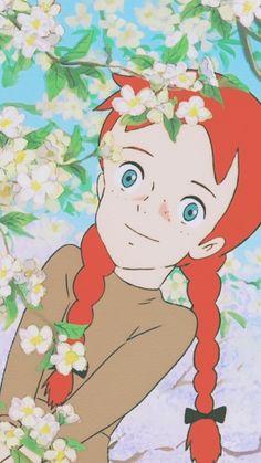 赤毛のアン Anne of Green Gables Cartoon Wallpaper, Cute Wallpaper Backgrounds, Cute Wallpapers, Cartoon Kunst, Cartoon Art, Anne Auf Green Gables, Anne Shirley, Cartoon Background, Old Anime