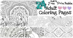 I pulled together these 20 Gorgeous Free Printable Adult Coloring Pages to choose from, started printing and BAM! I was in relaxation heaven. Printable Adult Coloring Pages, Coloring Book Pages, Coloring Sheets, Do It Yourself Organization, To Color, Art Plastique, Free Printables, Nerdy, Whimsical