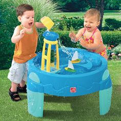 WaterWheel Play Table and over 7,500 other quality toys at Fat Brain Toys. Falling water action encourages creative exploration and cause & effect learning.