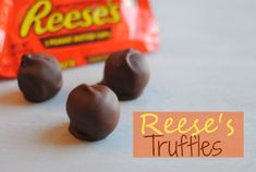 3-Ingredient Reese's Truffles 3 Ingredients come together to create a peanut buttery truffle made of Reese's cups. Ingredients 3 Packs of Reese's Peanut Butter Cups (6 total) 3 Standard Size Hershey Bars 3 Slices of Regular Flavor Pound Cake Semi homemade easy dessert gift holiday share sweet candy