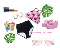 TQ_hai manh beo dua hong by pio-lala on Polyvore featuring Alice Cicolini, Oliver Peoples and Estée Lauder