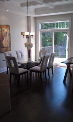 Canadian Red Oak Hardwood Flooring. Custom Installed, Stained & Finished To Your Imaginations Specifications. www.apeplakflooring.com